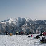 苗場スキー場頂上から