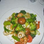Le Colonial - Mi Xiao Do Bien (Stir-fried shrimp, scallops, calamari, & mixed vegetables)
