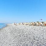 La spiaggia del villaggio kipriotis