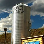 Crazy Mountain grain silo