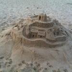 nice sand castle at the beach