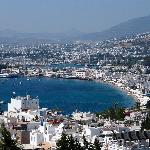 View from the terrace over Bodrum bay/castle