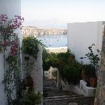 The view of Lindos Bay from the Hotel grounds
