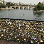 """The """"love-locks"""" of Paris are back on the city's bridges after they mysteriously disappeared ..."""