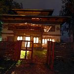 Thegchen Phodrang Guesthouse in the night