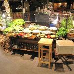 Veggie bar in the buffet