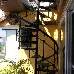 Spiral staircase leading to an awesome view