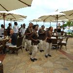 Staff treat guests to song and dance for a birthday treat