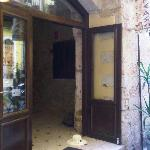 the hotel door