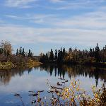 Along river
