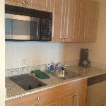 Mini Kitchen Area all stainless steel appliances