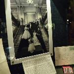 Early photo of grand staircase and write-up suggesting it may have inspired Gone with the Wind