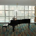 Grand Piano in the alcove on the third floor