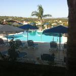 the pool area at the Zante star