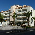Aparthotel Olhos d'Agua from Rua da Torre da Medronheira looking north east