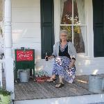 Bottled water and bottled Cokes are available on the front porch.