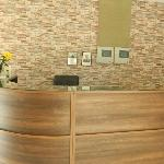 Reception desk (unmanned as usual)