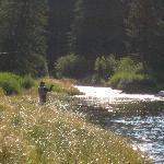 Fishing on Flat Creek