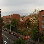 Вид с шестого этажа на угол Ленинградского пр. и ул. Ленина