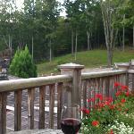 deck overlooking back of inn