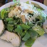 Caesar salad with pesto chicken - large and good