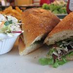 Portobello mushroom sandwich- great flavor, nice portion