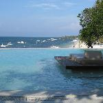 Infinity pool above Alona Beach
