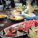 Evening and Lunch buffet - alwas a selection of fruit and jellies