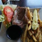 prime rib lunch special sandwich