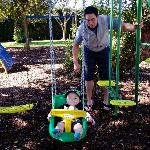 playing on the awsome parks