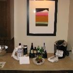 Bar area in the room entry