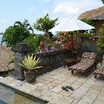 Another view of the outdoor living space of the villa