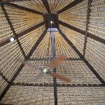 Loved the tall thatched roof ceilings