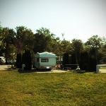 Our site at camper's village...very roomy and spacious! (also close to the washrooms)