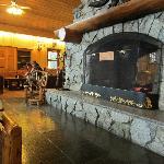 lodge fireplace