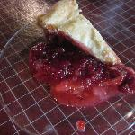 Yummy, warm raspberry pie.