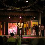 Entertainment team, Steve (dance teacher) on microphone