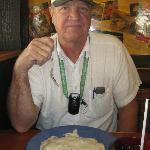 My brother, Steve, with his plateful of biscuits & gravy