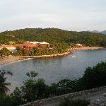 Vista de dos de las cuatro playas del hotel