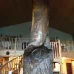 Giant tree in the dining area. Beautiful!