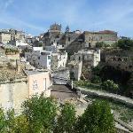 vista della città vecchia dalla trattoria