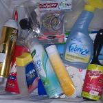 basket of toiletries for us to use