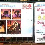 Restaurante Burriana - flamenco show sign