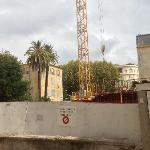 Le chantier à 50m
