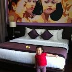 Master bedroom...photo bombed by a cutie pie