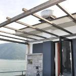 Dachterrasse mit Küchengeruchsabzug