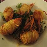 Monkfish wrapped in potato ribbons - dinner starter