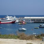 View from the restaurant terrace looking at the Santa Pola ferry in the harbour