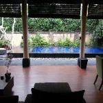 Private pool view from Living & Dinning room