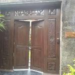 main entrance of villa